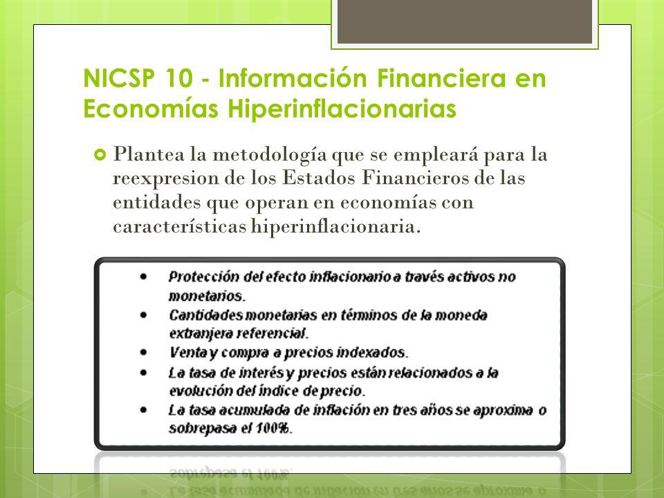 NICSP 10 - Información Financiera en Economías Hiperinflacionarias