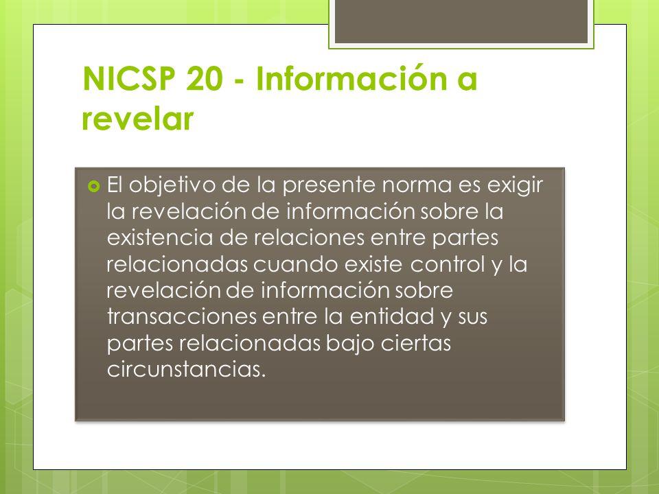 NICSP 20 - Información a revelar
