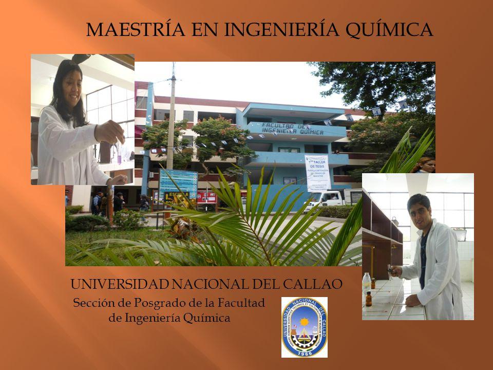 Sección de Posgrado de la Facultad de Ingeniería Química