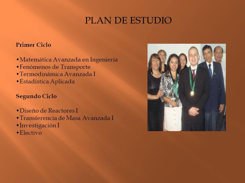 PLAN DE ESTUDIO Primer Ciclo •Matemática Avanzada en Ingeniería