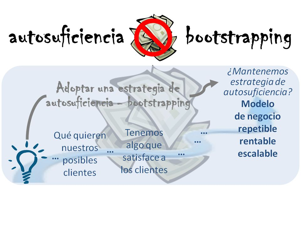 autosuficiencia bootstrapping