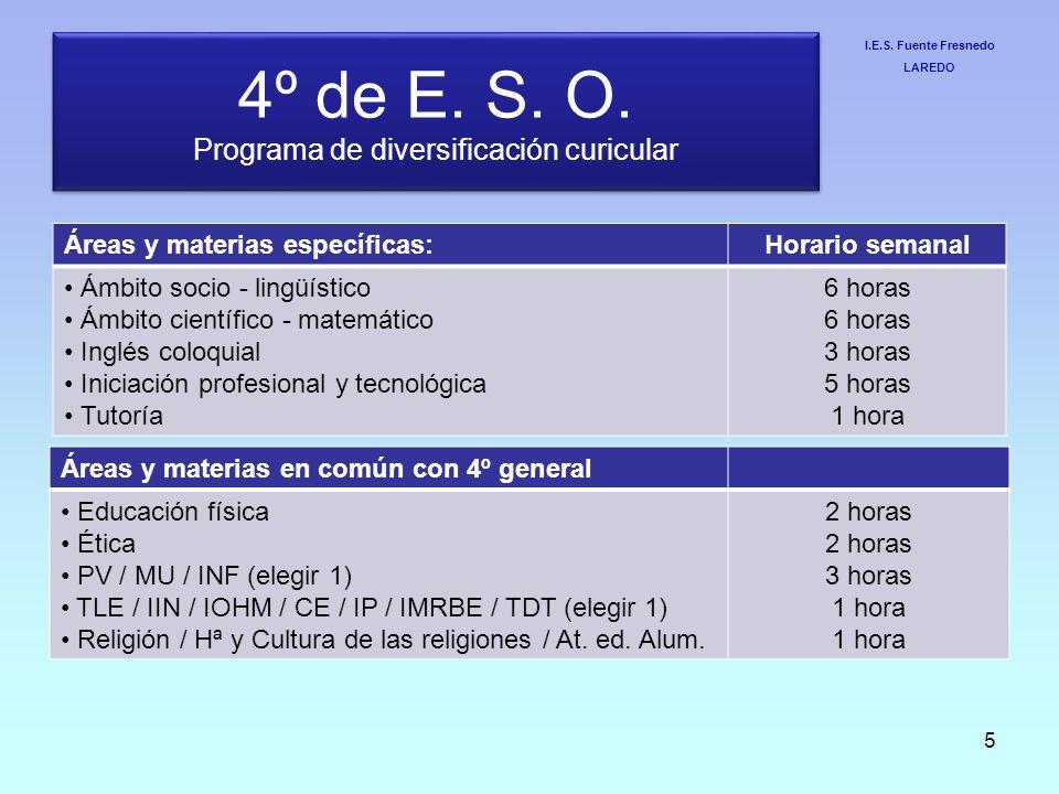 4º de E. S. O. Programa de diversificación curicular