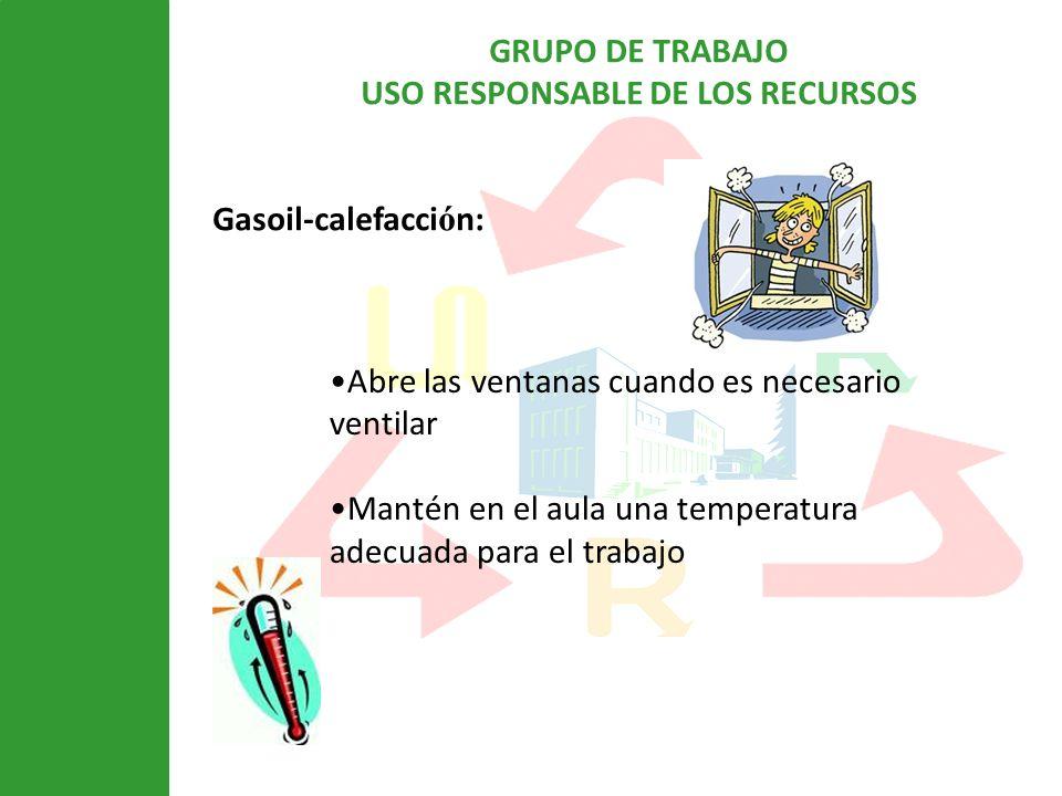 Gasoil-calefacción: Abre las ventanas cuando es necesario ventilar.