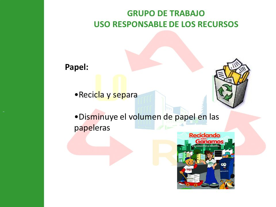 Disminuye el volumen de papel en las papeleras