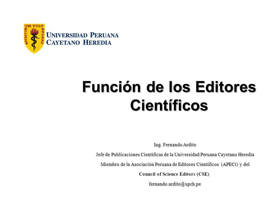 Función de los Editores Científicos