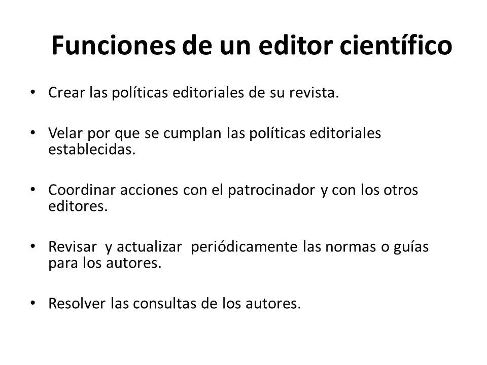 Funciones de un editor científico