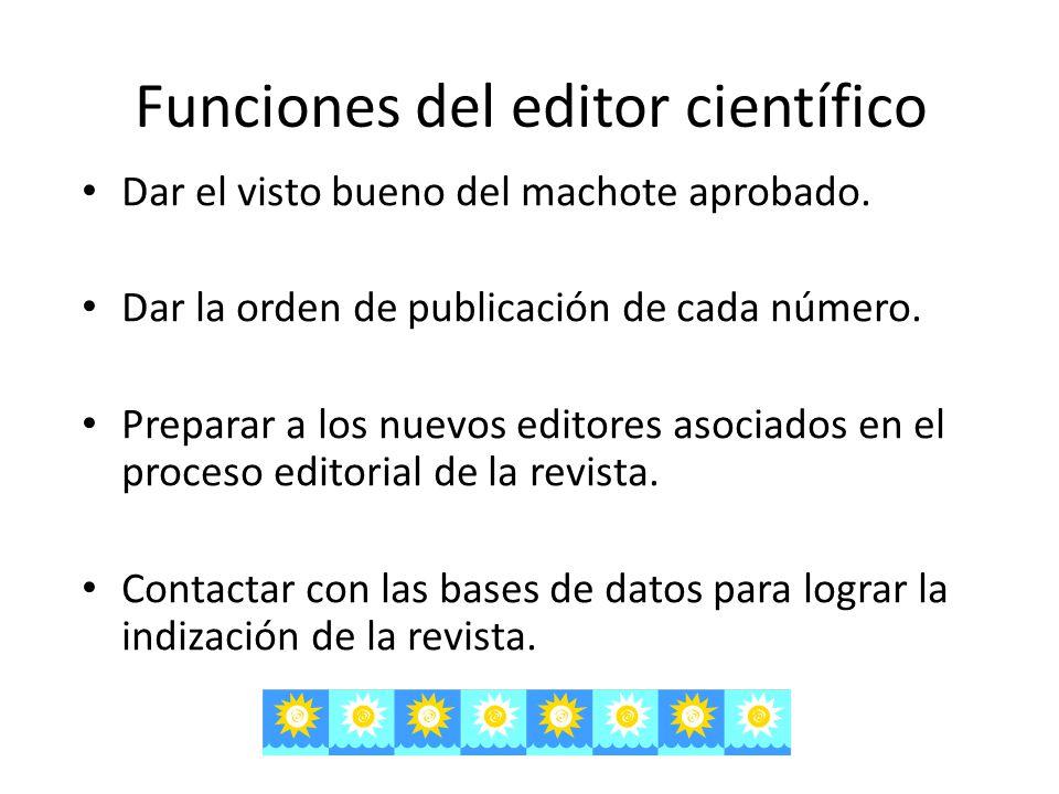 Funciones del editor científico