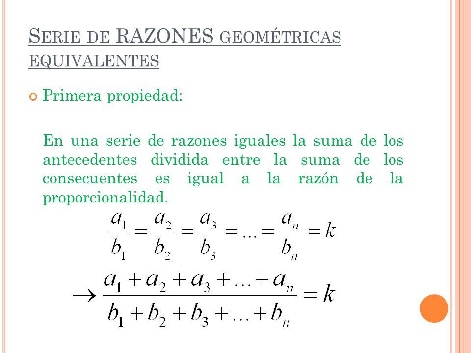 Serie de RAZONES geométricas equivalentes