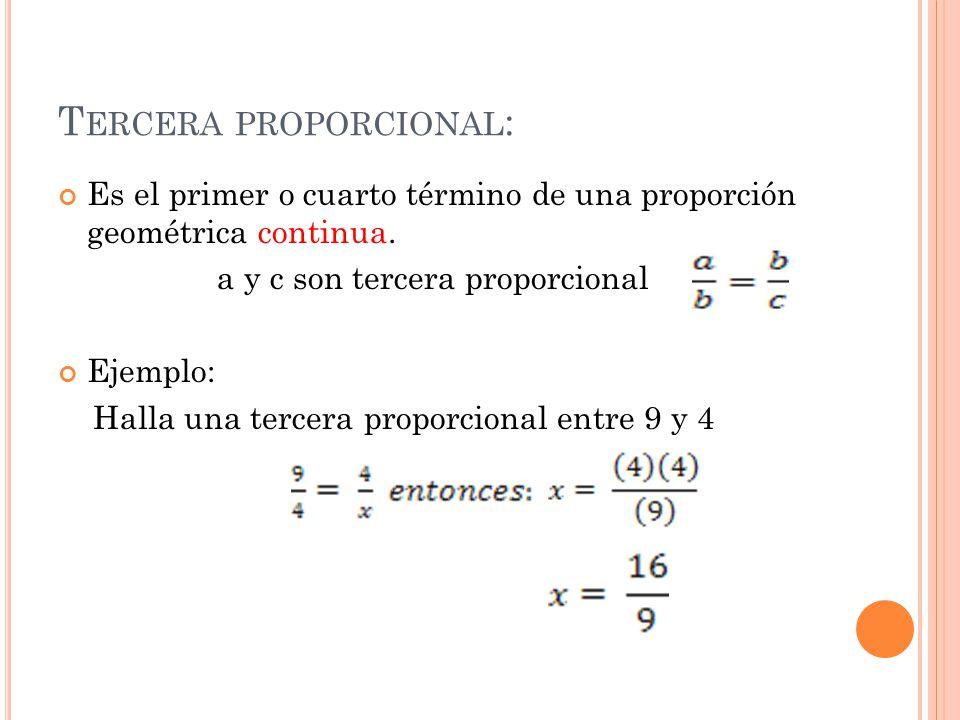 Tercera proporcional: