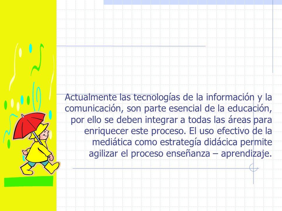 Actualmente las tecnologías de la información y la comunicación, son parte esencial de la educación, por ello se deben integrar a todas las áreas para enriquecer este proceso.