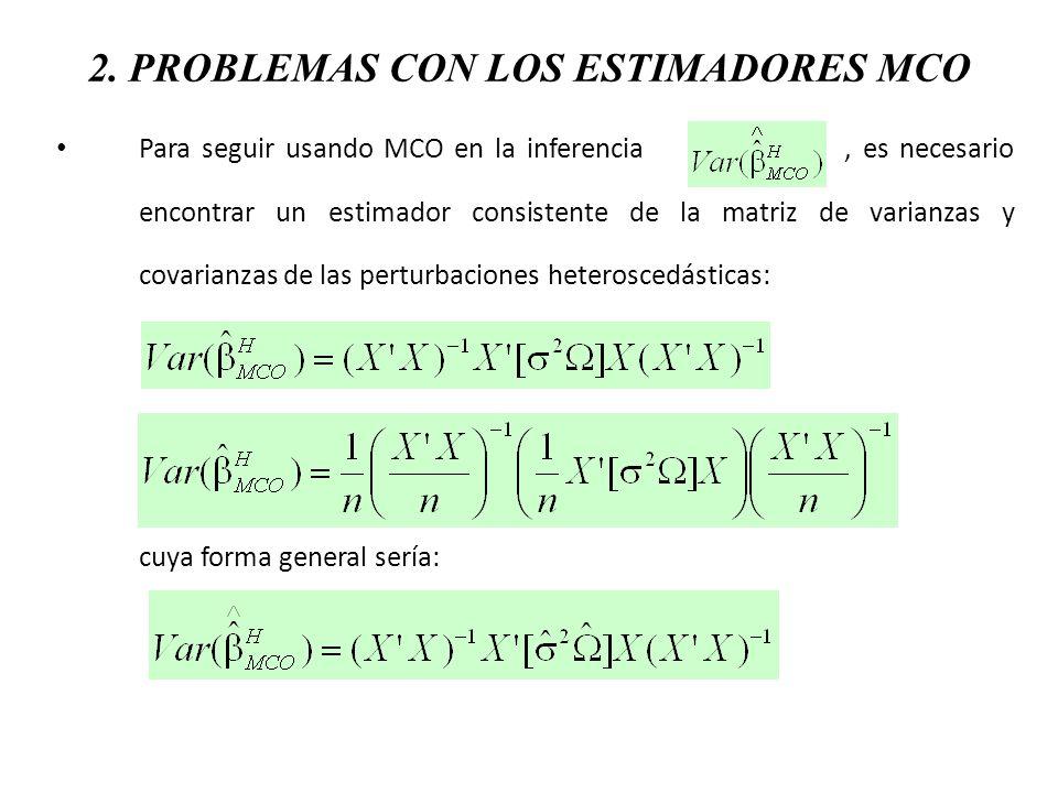 2. PROBLEMAS CON LOS ESTIMADORES MCO