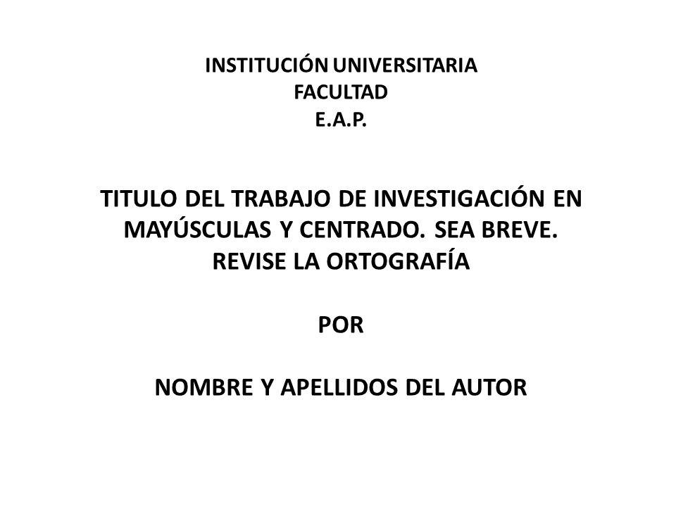 INSTITUCIÓN UNIVERSITARIA FACULTAD E. A. P