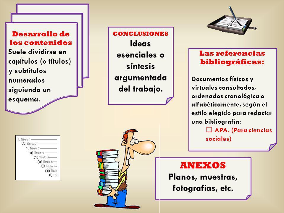 Ideas esenciales o síntesis argumentada del trabajo.