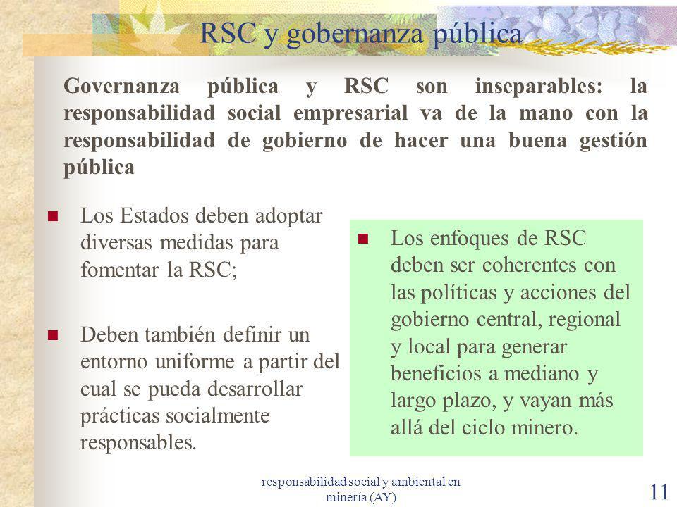 RSC y gobernanza pública