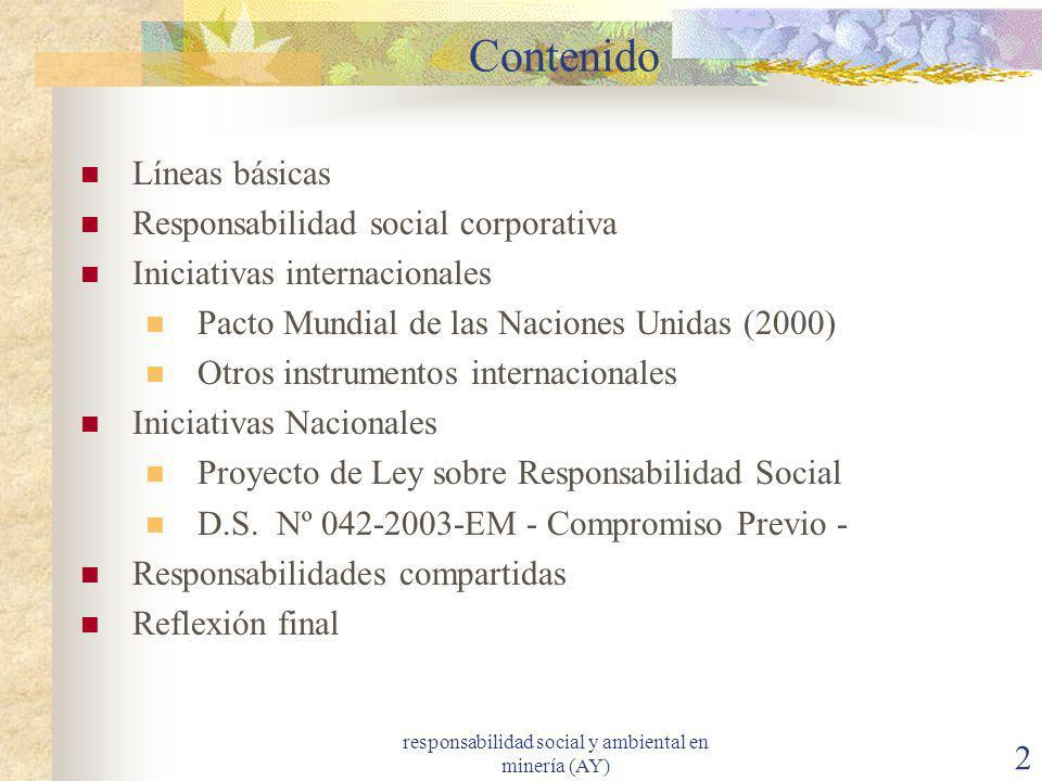 responsabilidad social y ambiental en minería (AY)