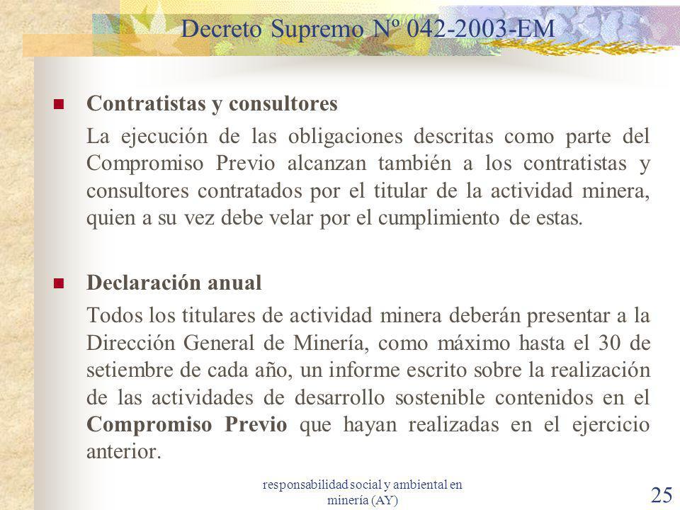 Decreto Supremo Nº 042-2003-EM