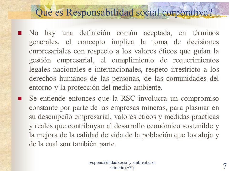Qué es Responsabilidad social corporativa