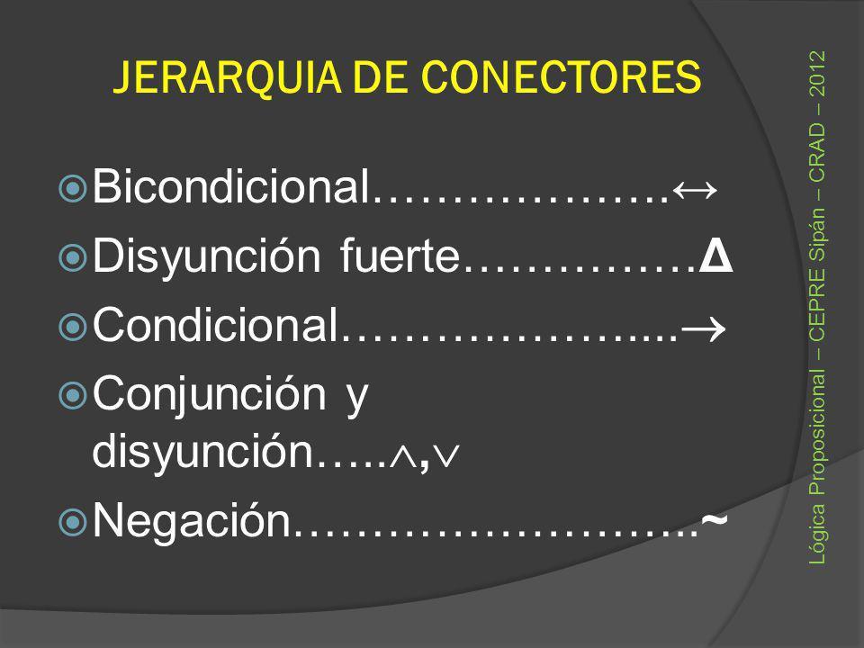 JERARQUIA DE CONECTORES