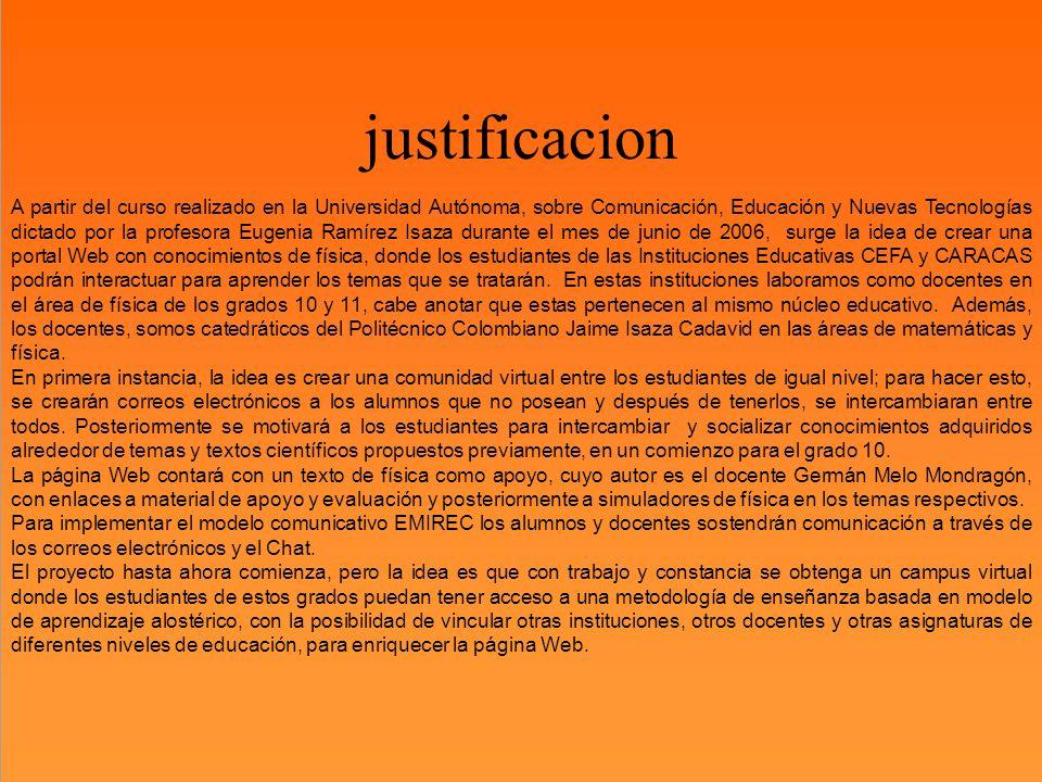 justificacion USTIFICACIÓN