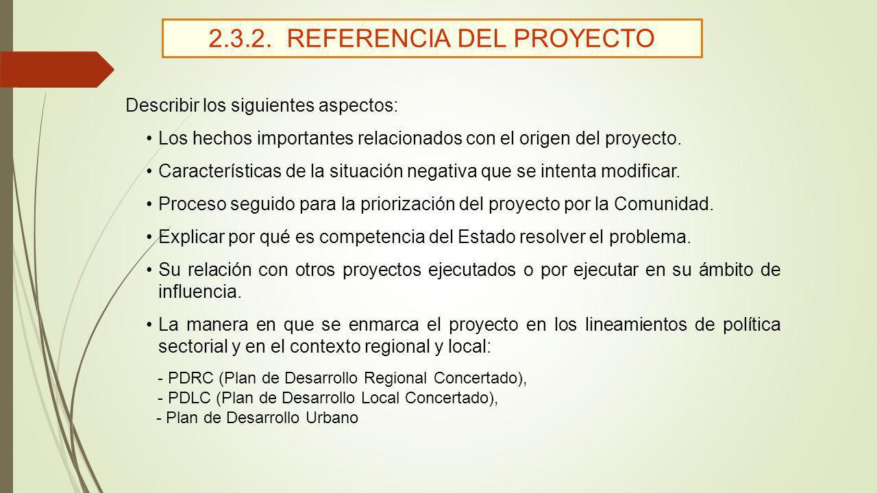 2.3.2. REFERENCIA DEL PROYECTO