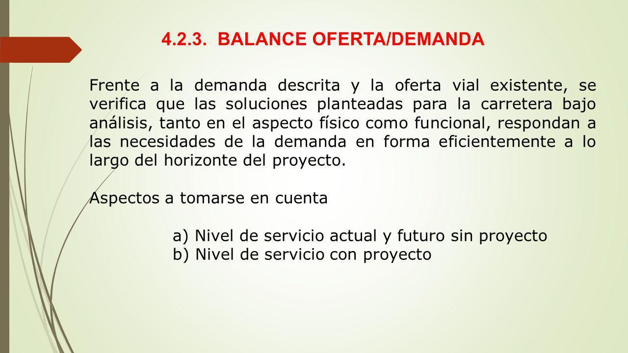 4.2.3. BALANCE OFERTA/DEMANDA