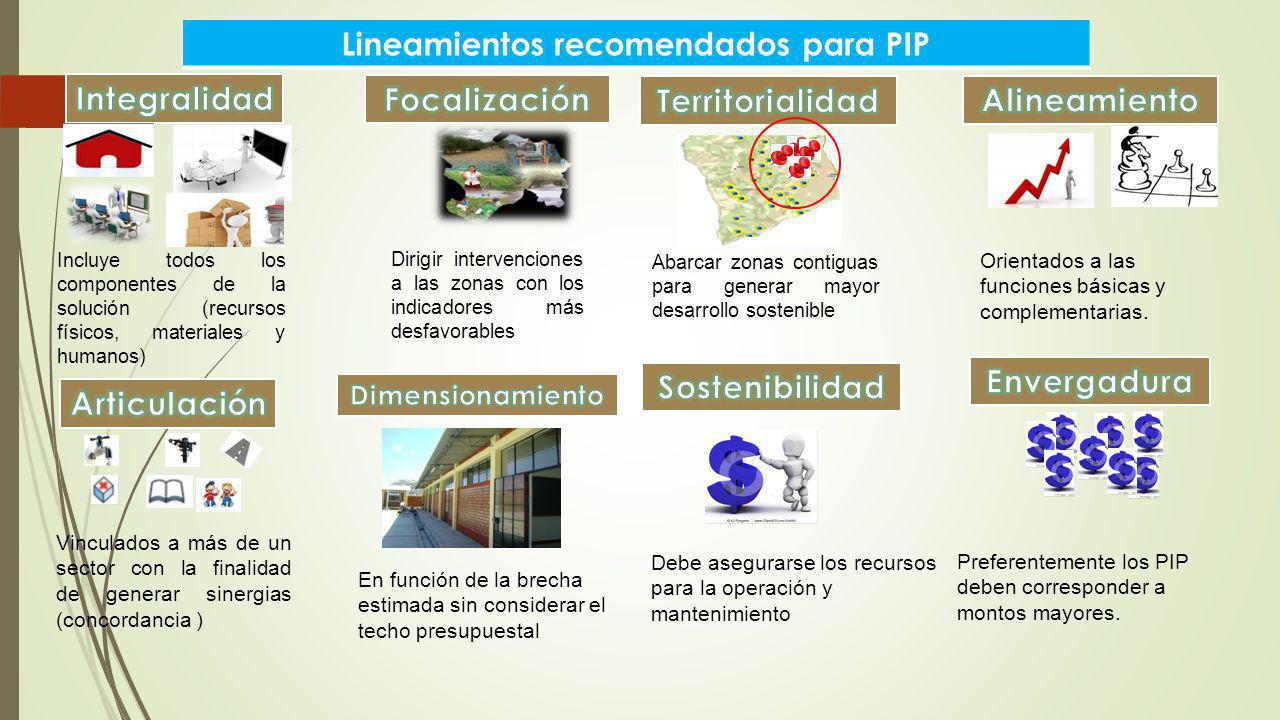 Lineamientos recomendados para PIP