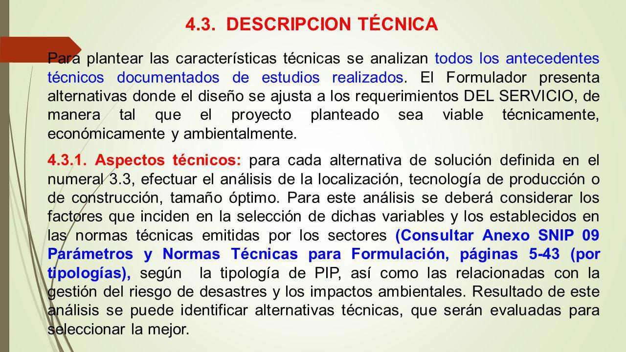 4.3. DESCRIPCION TÉCNICA