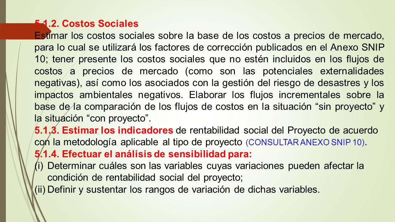 5.1.2. Costos Sociales