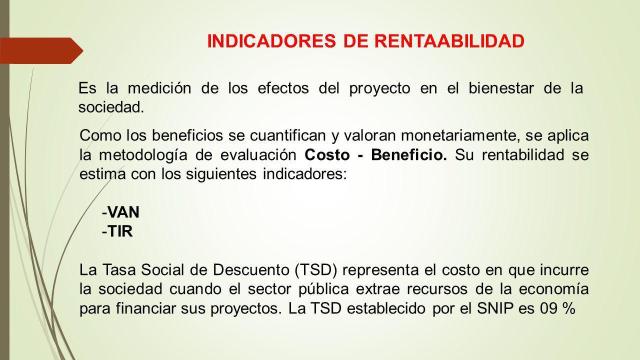 INDICADORES DE RENTAABILIDAD