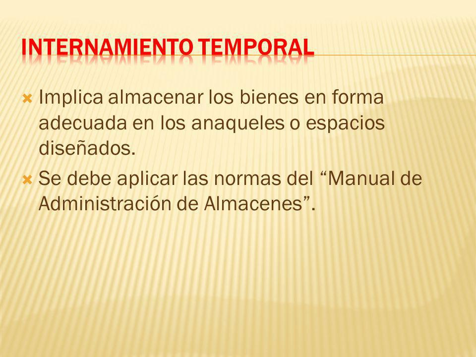 INTERNAMIENTO TEMPORAL
