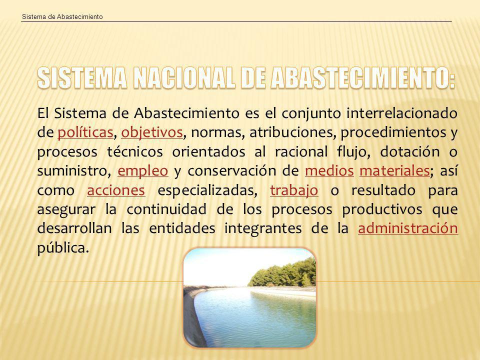 SISTEMA NACIONAL DE ABASTECIMIENTO: