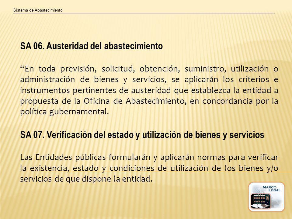 SA 06. Austeridad del abastecimiento