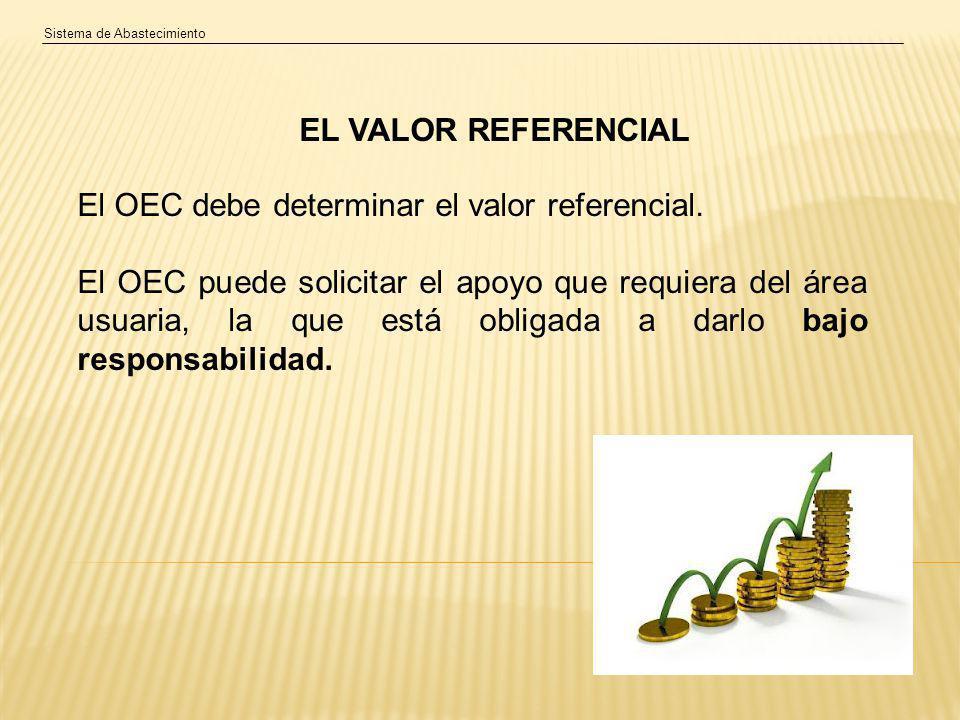 El OEC debe determinar el valor referencial.