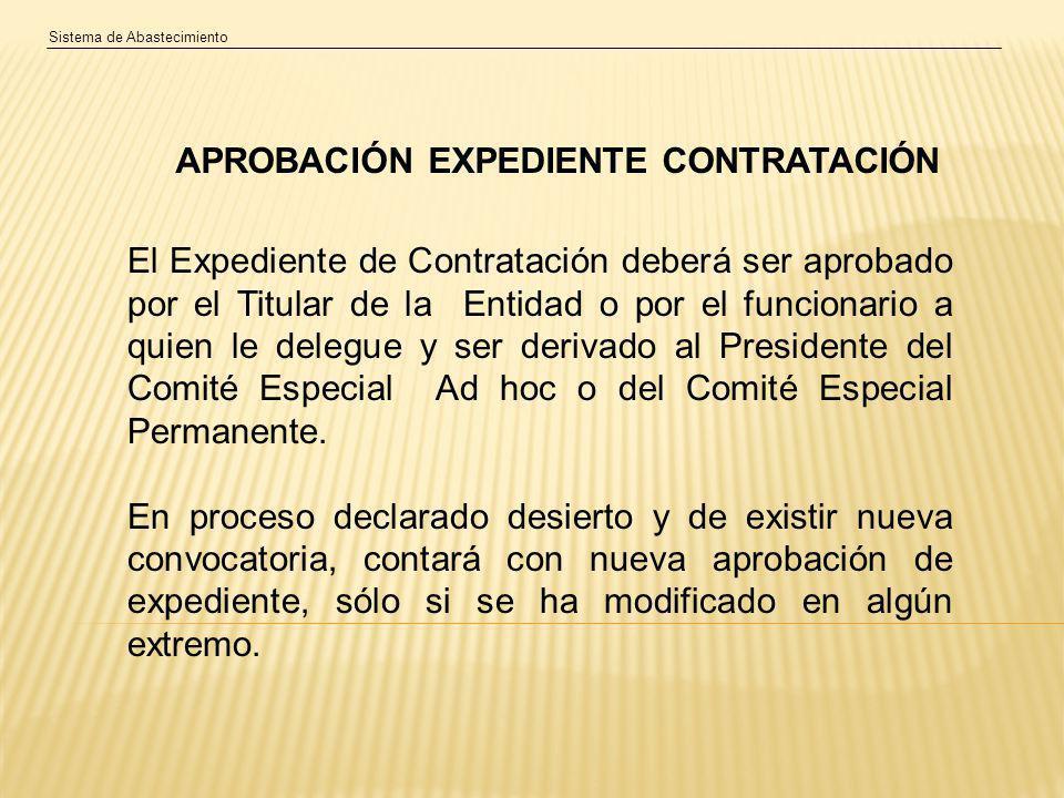 APROBACIÓN EXPEDIENTE CONTRATACIÓN