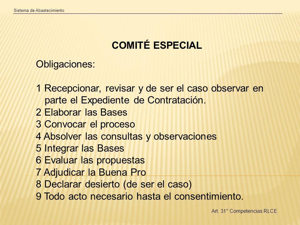 4 Absolver las consultas y observaciones 5 Integrar las Bases