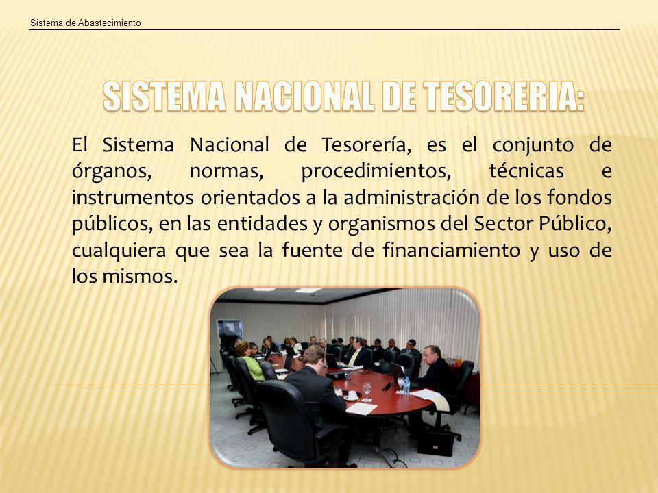 SISTEMA NACIONAL DE TESORERIA: