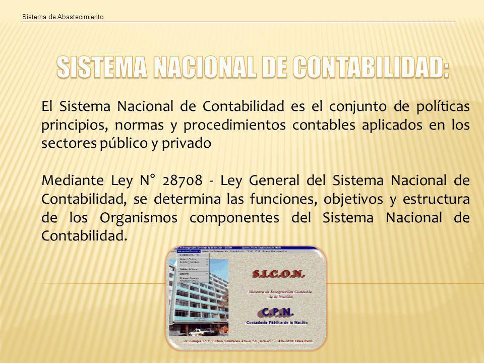 SISTEMA NACIONAL DE CONTABILIDAD: