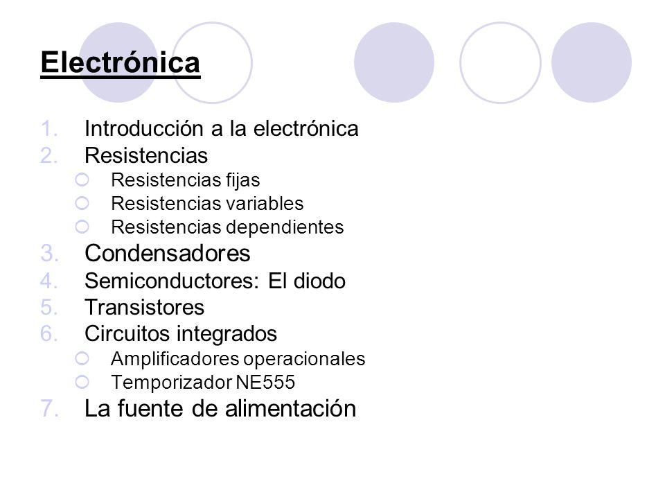 Electrónica Condensadores La fuente de alimentación