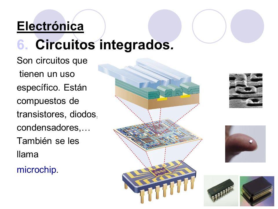 Circuitos integrados. Electrónica Son circuitos que tienen un uso