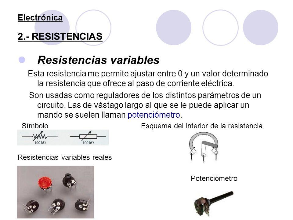 Electrónica 2.- RESISTENCIAS
