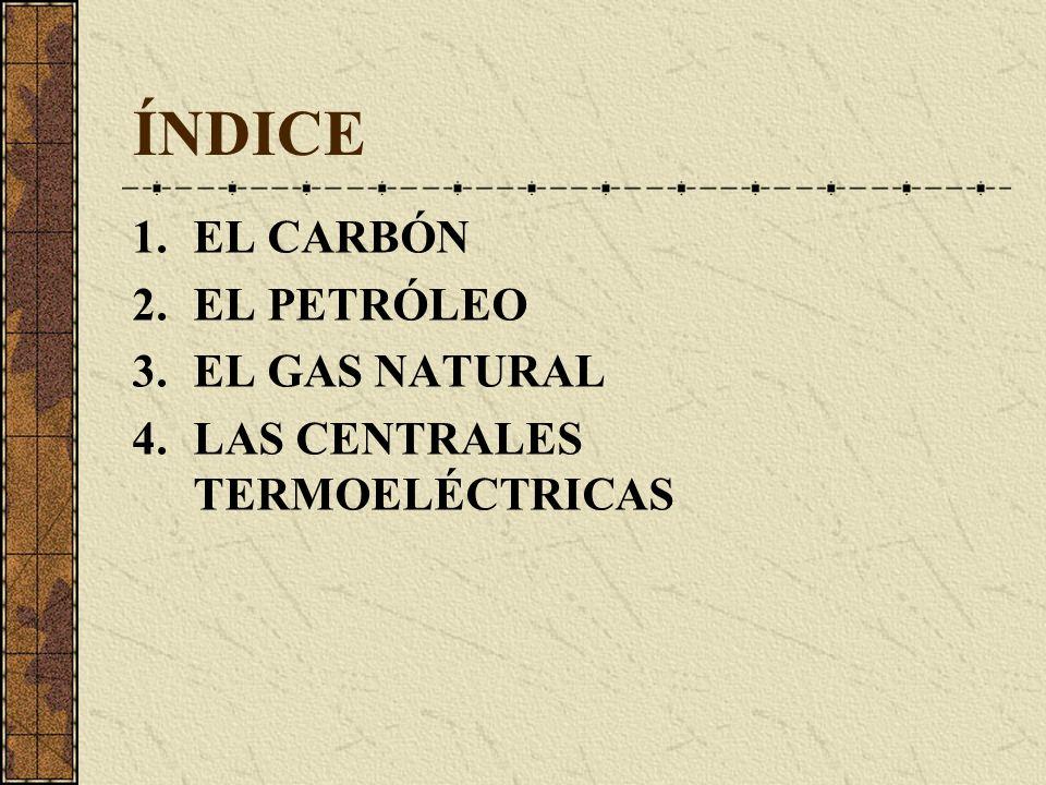 ÍNDICE EL CARBÓN EL PETRÓLEO EL GAS NATURAL
