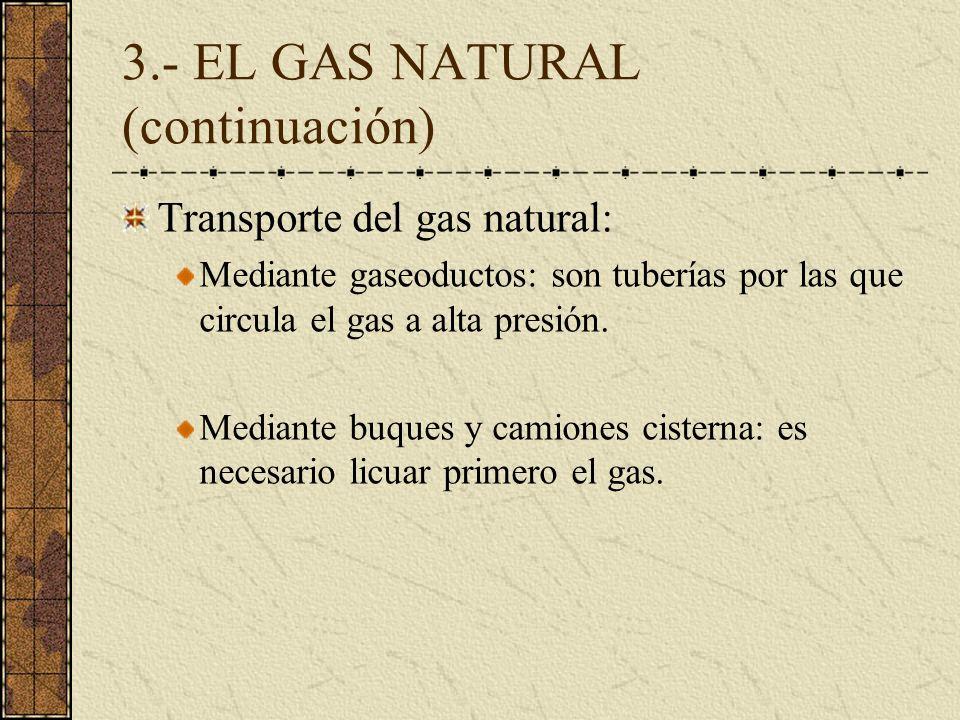 3.- EL GAS NATURAL (continuación)