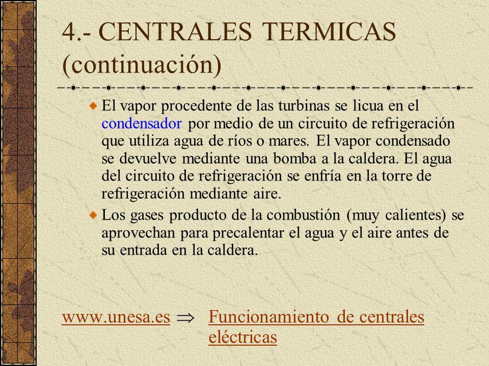 4.- CENTRALES TERMICAS (continuación)