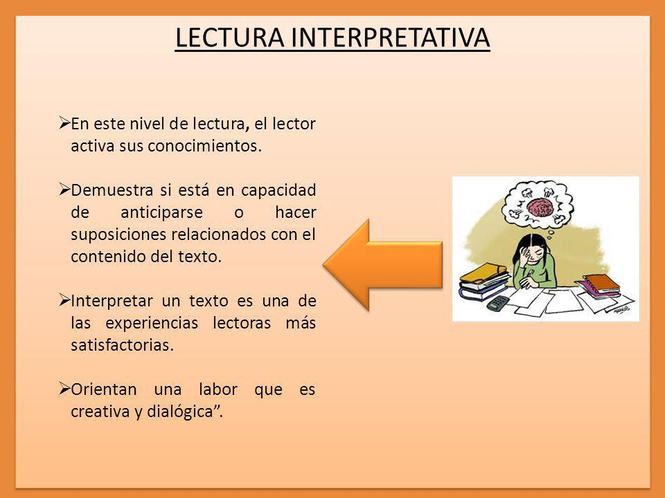 LECTURA INTERPRETATIVA