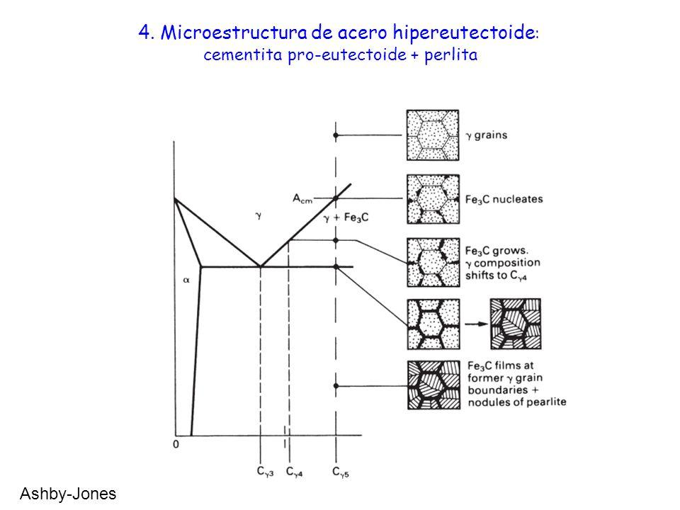 4. Microestructura de acero hipereutectoide: