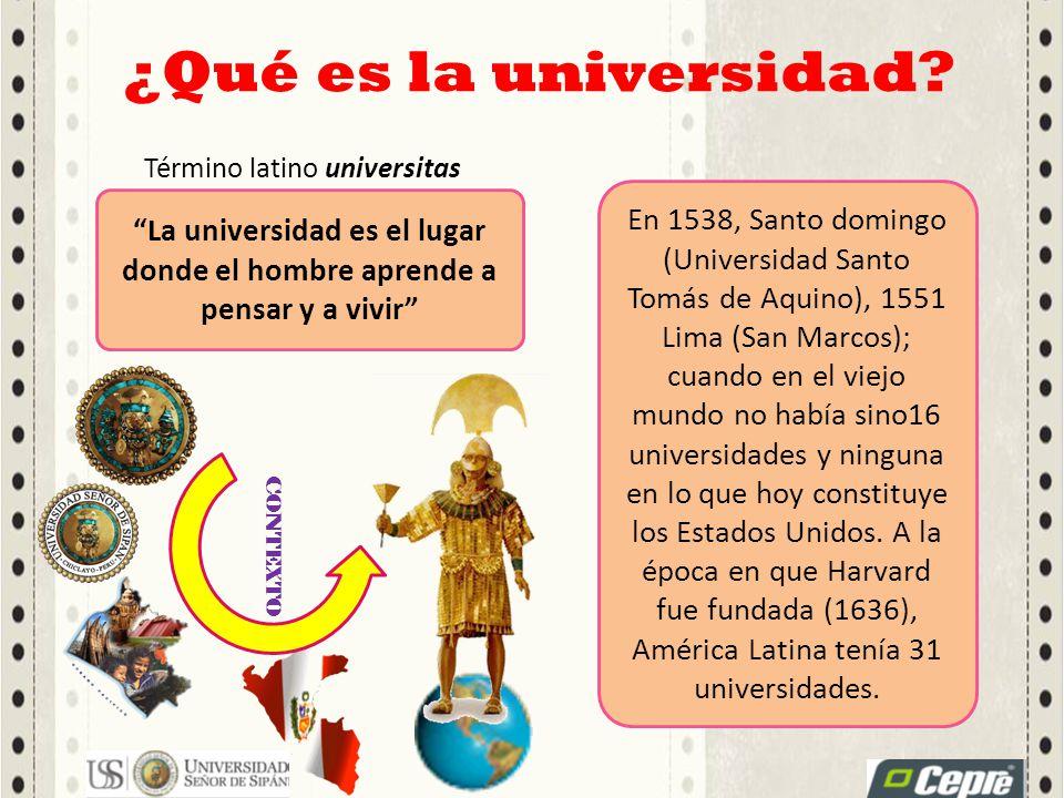 ¿Qué es la universidad Término latino universitas.