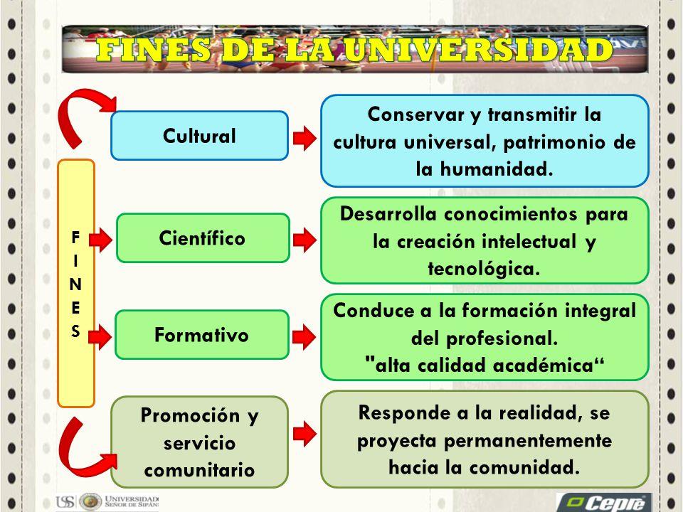 FINES DE LA UNIVERSIDAD