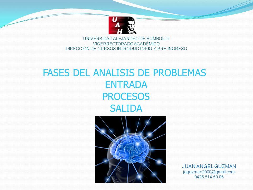 FASES DEL ANALISIS DE PROBLEMAS
