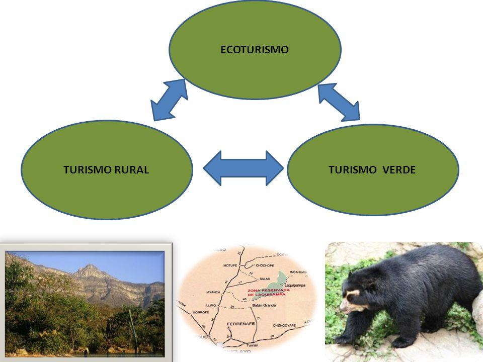 ECOTURISMO TURISMO RURAL TURISMO VERDE