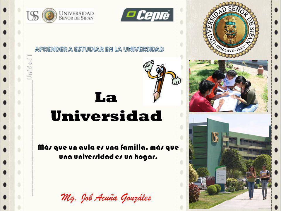 Más que un aula es una familia, más que una universidad es un hogar.